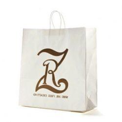שקית לבנה עם לוגו