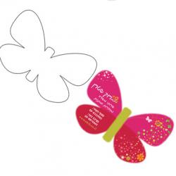עיצוב כרטיב בצורת פרפר
