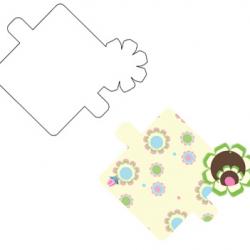 עיצוב מגנט אופוייט עם פרחים צבעוניים